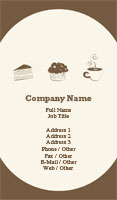 Brown Bakery Business Card Template